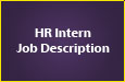 HR Intern Job Description